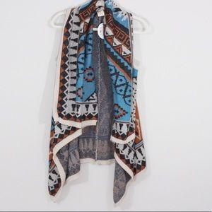 Flying Tomato NWT Aztec Print Sweater Vest